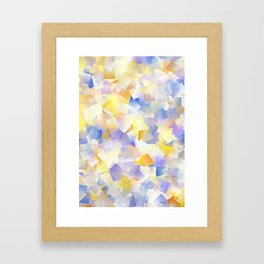 Spring Daffodil Flowers In Cubes Framed Art Print