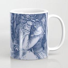 "Albrecht Dürer ""Melancholia I"" edited blue Coffee Mug"