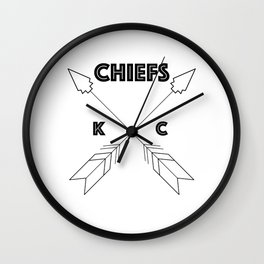 Chiefs Arrowhead Wall Clock