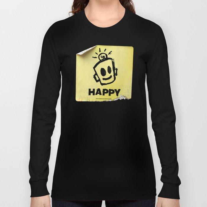 The Happy Sticker Long Sleeve T-shirt