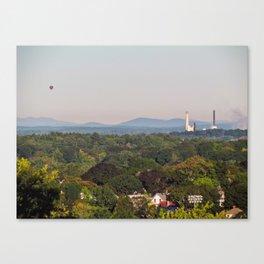Balloon over Westbrook Canvas Print
