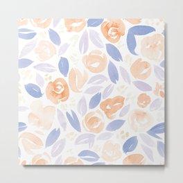 Floral Pattern #2 | Peach Lilac Palette Metal Print