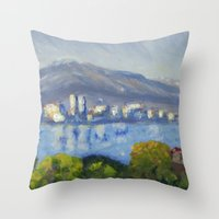 monet Throw Pillows featuring Monet Study by Paige Melinis