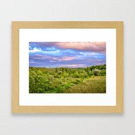 Bird sanctuary at sunset in Upstate New York Framed Art Print