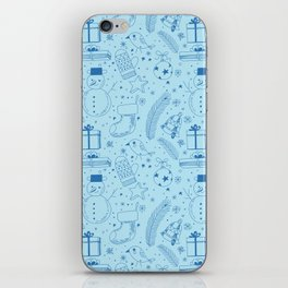 Doodle Christmas pattern iPhone Skin