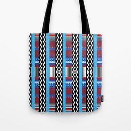 Black Blue Etnic Tote Bag