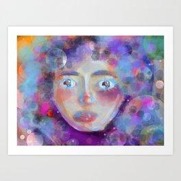 Women in Space Art Print