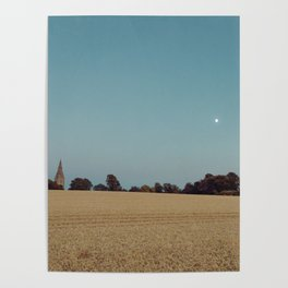 The Moon and the Church Poster