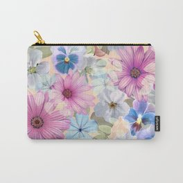 Pink and blue floral pattern Carry-All Pouch