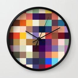 Kelpie - Multicolor Pixel Pattern Wall Clock