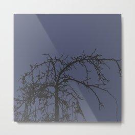 Creepy tree silhouette Metal Print