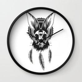Bunny Skull Wall Clock