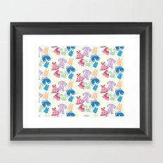 Summer clothes Framed Art Print