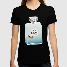 No.5 Aloha, hawaii art, aloha art, summer art, perfume art T-shirt