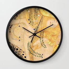 Water Serpents - Gustav Klimt Wall Clock