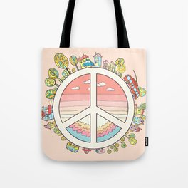 peaceful bright Pacific planet Tote Bag