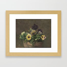 Henri Fantin-Latour - Potted Pansies Framed Art Print