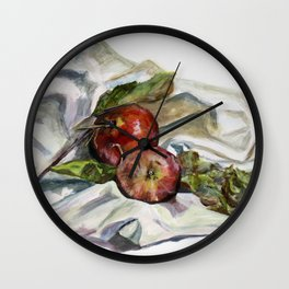Apples from the orchard Wall Clock