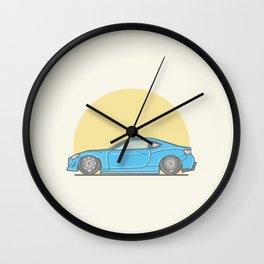 Toyota GT86 Vector Illustration Wall Clock