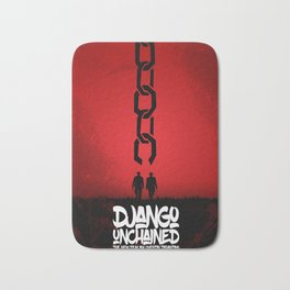 Django Unchained - Minimal Movie Poster. A Film by Quentin Tarantino. Bath Mat