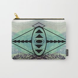 Mountians and Print Carry-All Pouch