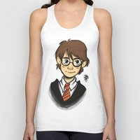 harry Tank Tops featuring HARRY  by art of Bianca