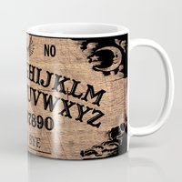 ouija Mugs featuring Ouija Board by KickPunch