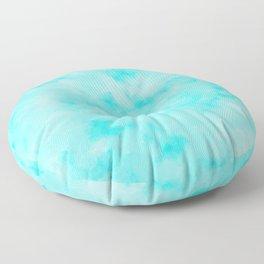 Light Blue Beach Vibes Abstract Floor Pillow