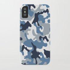Blue and White Camo iPhone X Slim Case
