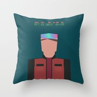mcfly Throw Pillows featuring Marty McFly 2015 by Migui Díaz
