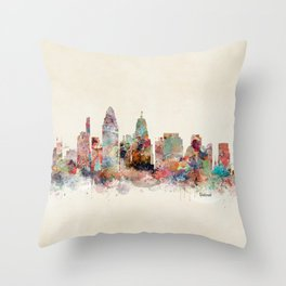 Cincinnati ohio skyline Throw Pillow