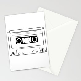 Cassette Tape Silhouette Stationery Cards