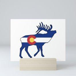 Colorado Flag Elk Mini Art Print