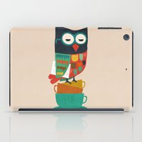morning iPad Cases featuring Morning Owl by Picomodi