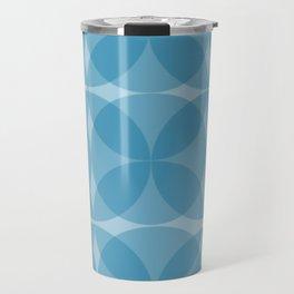 blue circulos Travel Mug