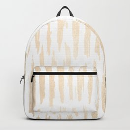 White Gold Sands Vertical Dash Backpack