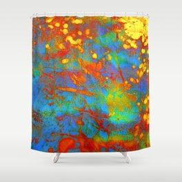 bright abstract leaves Shower Curtain