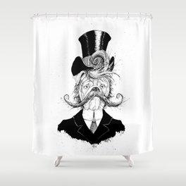 Fine Victorian Bulldog (B&W) Shower Curtain