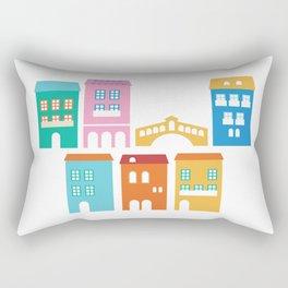 New handdrawn Town Rectangular Pillow
