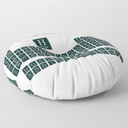 Periodic Table of Elements - Forest Green Floor Pillow