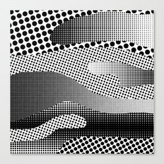 Black White Sea Canvas Print