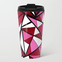 Abstract geometric triangles pattern . 6 Travel Mug