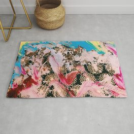 Sparrow Abstract Painting Rug