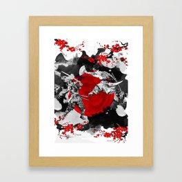 Samurai Fighting Framed Art Print