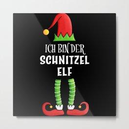 Schnitzel Elf Partnerlook Weihnachten Metal Print