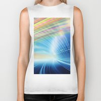 halo Biker Tanks featuring Colorful Halo by Tom Lee