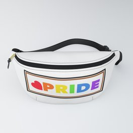 Pride rainbow text Fanny Pack