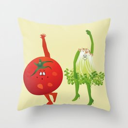 From the Salad to the dance floor Throw Pillow
