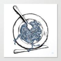pasta Canvas Prints featuring Pasta!! by EGARCIGU