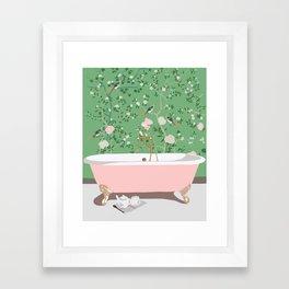 Poppy's Bathroom Framed Art Print